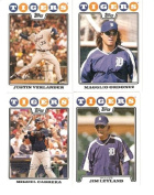 2008 Topps Detroit Tigers Complete Team Set (20 - Baseball Cards from both Series 1 & 2) Includes Miguel Cabrera, Justin Verlander, Magglio Ordonez, Edgar Renteria and more
