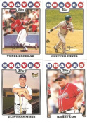 2008 Topps Atlanta Braves Complete Team Set (24 - Baseball Cards from both Series 1 & 2) Includes Chipper Jones, Brian McCann, Jeff Francoeur and more