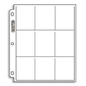 25 (Twenty-Five) 9-Pocket Pages For Baseball Cards, Football Cards, etc