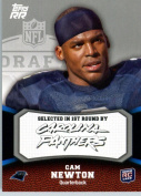 2011 Topps Rising Rookies Football Card # 130 Cam Newton RC - Carolina Panthers (RC - Rookie Card) NFL Trading Card Protective Screwdown Display Case