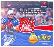 2012 Topps Football Cards Jumbo Box [Home Team Advantage]