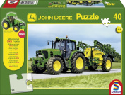 Schmidt John Deere Tracter With Sprayer Jigsaw 40 pc + Model Tractor