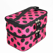 Caltrad Red Cosmetic Make-up Toiletry Purse Bag Travel Organiser Storage Box Beauty Case Holder Wash Handbag Favour Gift