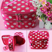 Caltrad Rose Travel Organiser Makeup Bags Polka Dots Toiletry Beauty Purse Case Hand Holder Gift Cosmetic Bags