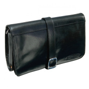 Maxwell Scott Luxury Black Leather Toiletry Case