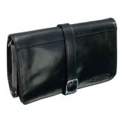 Maxwell Scott Luxury Black Leather Toiletry Case
