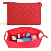 Caltrad Strong Cloth Compact Cosmetics Bags Pouch Insert Organiser Travel Makeup Beauty Pockets Case --- Red