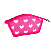 Vagabond In the Pink Small Curved Top Cosmetics Makeup Bag