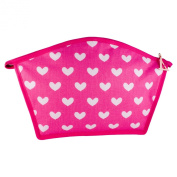 Vagabond In the Pink Large Curved Top Cosmetics Makeup Bag