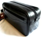 Prime Hide Men's Dark Brown Leather Wash Bag / Toiletry Bag