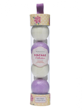 Heathcote and Ivory Vintage Mimosa & Pomergranate Bath Melts Pack of 4