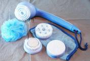 Rio Luxury Cordless Body Spa Twin Speed Kit Brush Exfoliate Massage Soothe