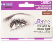 Julienne Eyelash and Eyebrow Permanent Light Brown 04 Colour Tint 15ml