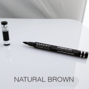 MAKKI SEMI PERMANENT EYEBROW COLOUR PEN LONG STAY SOFT SLANTED TIP COLOURS & SHAPES THE EYE BROWS