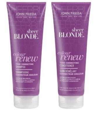 John Frieda Sheer Blonde Colour Renew Tone Correcting Shampoo & Conditioner - 250 Ml Each