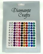 110 x 6mm Mixed Colours Diamante Vajazzle Rhinestone Gems