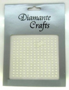 195 x 3mm Ivory Pearl Self Adhesive Rhinestone Body Vajazzle Gems - created exclusively for Diamante Crafts