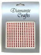 195 x 3mm Red Diamante Self Adhesive Rhinestone Body Vajazzle Gems - created exclusively for Diamante Crafts