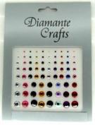 1mm - 8mm Mixed Colours Diamante Rhinestone Gems