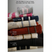 Neotrims Stretch Knit Rib Welts, Waistbands, Panels, Cuffs for Bombers & Jackets, To Trim Garments, Functional and Decoration. Textured collection in Various Sizes. Amazing!