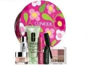 Clinique Pretty in Pink Gift / Travel Set Mascara, Lipstick, Eye Shadow, Soap, Repairwear, Moisture Surge