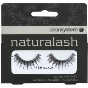 Salon System Naturalash Quick and Easy Re-Usable Black 120 Lashes