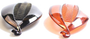PRETTY BANANA CLIP HAIR COMB FISH CLIP BLACK TORT WOMEN'S LADIES GIRLS 2pcs