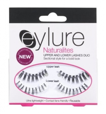 Eylure Naturalites Upper and Lower Lashes with 3 ml Lashfix Latex Based Lash Glue Choppy Black