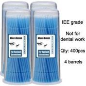 Micro Brush Swab Applicators in Barrel Cases / 4 four barrels x 100 is 400 brushes total / Regular type Disposable Microbrush Microswab/ Eyelash Extensions / Individual Eyelash Extensions / Semi Permanent Eyelash Extensions / Fake Eyelashe ..