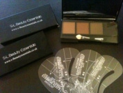 Waterproof Eyebrow Compact Powder all brow colours ,4 Stencils & a brush Diy Hd brows