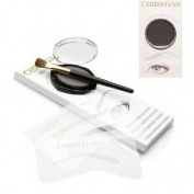 Christian Eyebrows BLACK Stencils, Powder and Brush Set