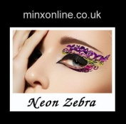 Ninxae Eye Transfers - Neon Zebra - Last Up To 16 Hours