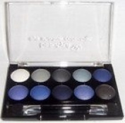 Beauty Uk 10 piece bright vivid eyeshadow set PURPLE WHITE BLACK