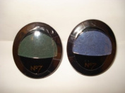 2 x No7 Stay Perfect Eye Shadow from Boots Colour midnight blue 20 + Emerald 45