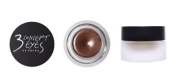 KOREAN COSMETICS, Style NANDA_ 3 CONCEPT EYES, GLAM CREAM SHADOW # GLAMOROUS (5g, Long Lasting, Shimmering pearls. Soft Brown) [001KR]