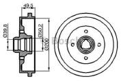 Bosch 0986477041 Brake Drum