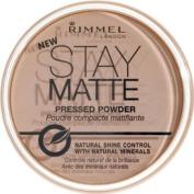 Rimmel face make-up pressed powder stay matte pink blossom