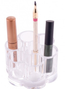 Cosmetic Organiser - Lipstick/Brush Round Holder Clear Acrylic