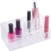 Danielle Rectangular Lipstick/Brush Holder Clear Acrylic
