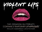 Violent Lips The Crimson Glitteratti Temporary Lip Appliques - Set of 3