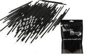 B.M.C 100 pc. Disposable Cosmetic Eye Wands Lip Brush Makeup Applicators for Mascara, Liquid Eyeliner, Lipstick, Lipgloss
