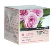 Roses from Bulgaria Moisturising Day Cream with Natural Rose Water and Complex Vitamin A + E