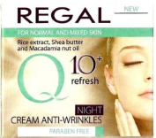 ANTI WRINKLE NIGHT CREAM - with Q10 + Rice Extract & Shea Butter