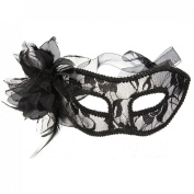 Christmas gift for Venetian Feather Lace Flower Eye Mask Masquerade Ball Costume Party Fancy Dress