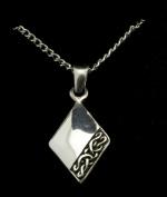 Celtic Diamond Design Pendant in Pewter- PDT05