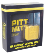 Plain Lazy Slippery When Wet - Wash Mitt and 100g Soap Set