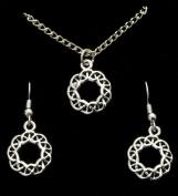 Celtic Design Pendant & Earring Set in Pewter- ERF1043