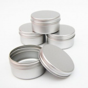 10 x 50ml Aluminium Make up Pots 50ml Capacity Empty Small Cosmetic/Candle/Spice Pots Tins Jars