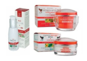 Rooibos Set - Face Wash Gel 100ml , Eye Contour Cream 40ml & Intensive Night Cream 50ml for Reduction of Deep Wrinkles