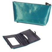Teal Travel Make Up Set - Compact Mirror and Storage of all her Cosmetics